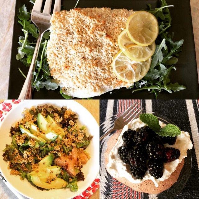 Social Sundays  Roasted Macadamia Halibut Crispy Quinoa Avocado Saladhellip
