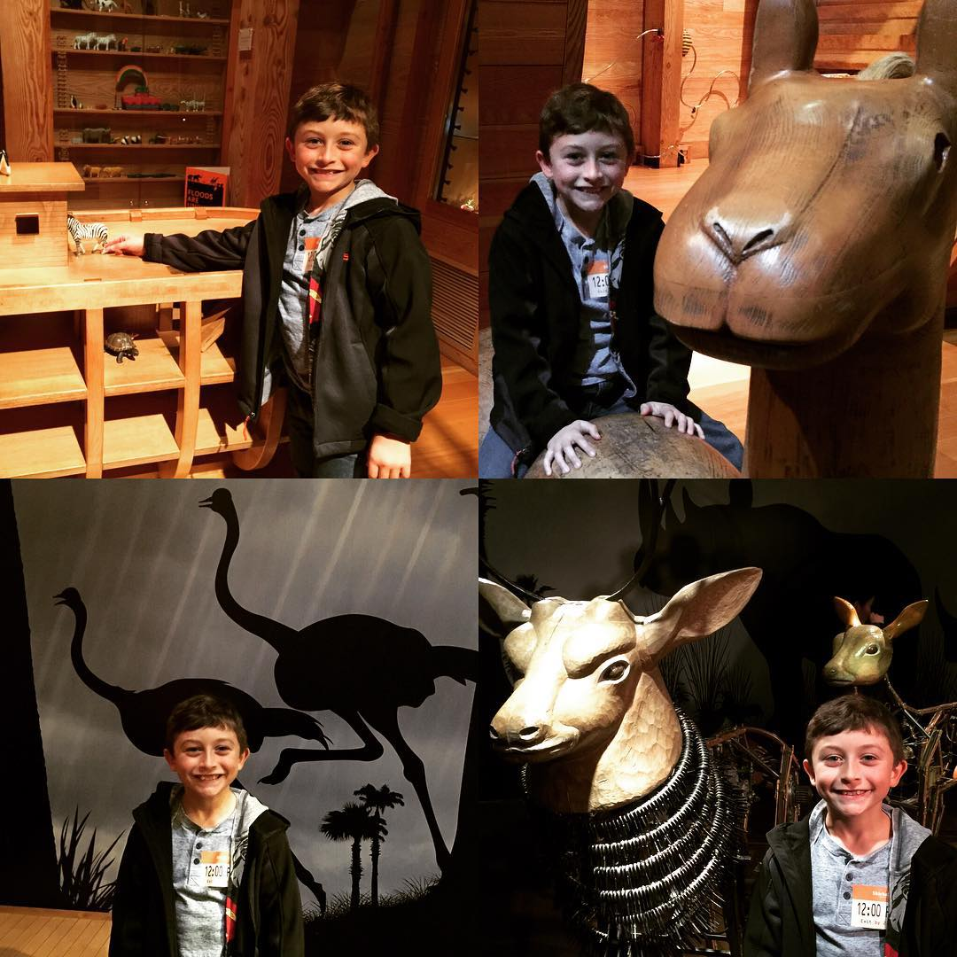 Gavin and I at Skirball Museum exploring the Noahs Arkhellip
