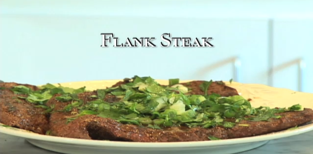 Flank Steak with Fresh Herbs and Lime
