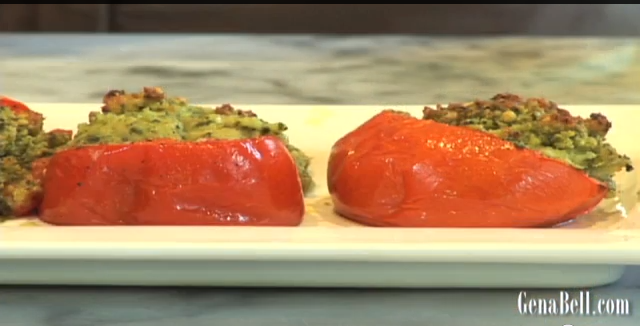Arugula Stuffed Tomatoes