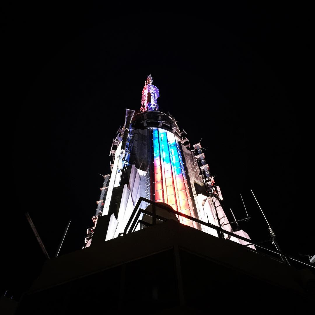 View of Empire State Building Steeple at Midnight! Happy 4thhellip