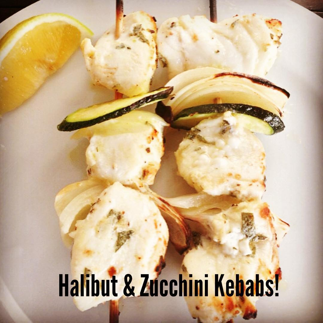 Quick and Easy Weeknight Meals! Try these Halibut Kebabs! Simplyhellip
