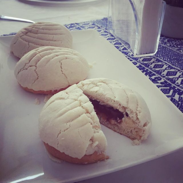 Vanilla Conchas filled with Cajeta! Sweet bread with my coffee!hellip