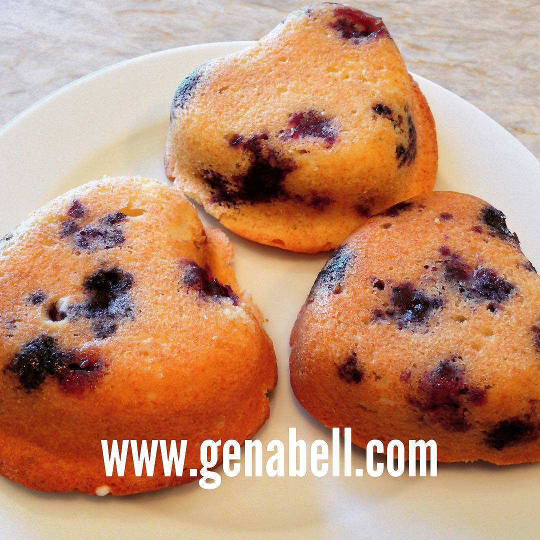 Blueberry Muffins made with fresh summer berries! summer baking homemadehellip