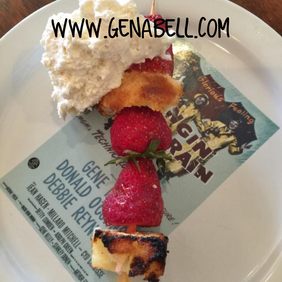 Grilled Strawberry Shortcake Skewers Recipe! wwwgenabellcom strawberries delicious summer grillinghellip