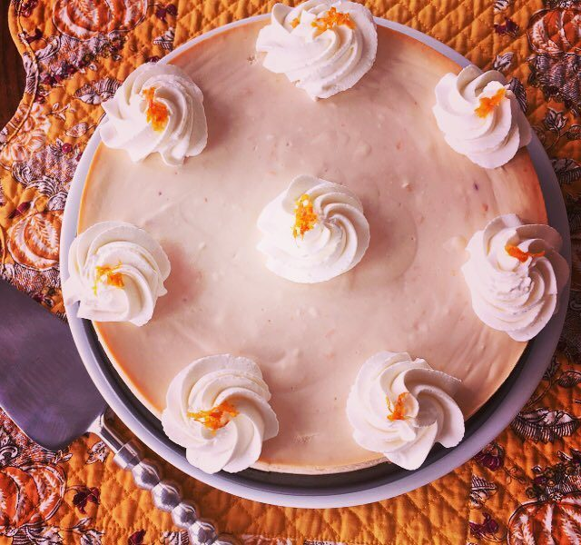 Blood Orange Ricotta Cheesecake! Creamy tangy sweet  perfect desserthellip