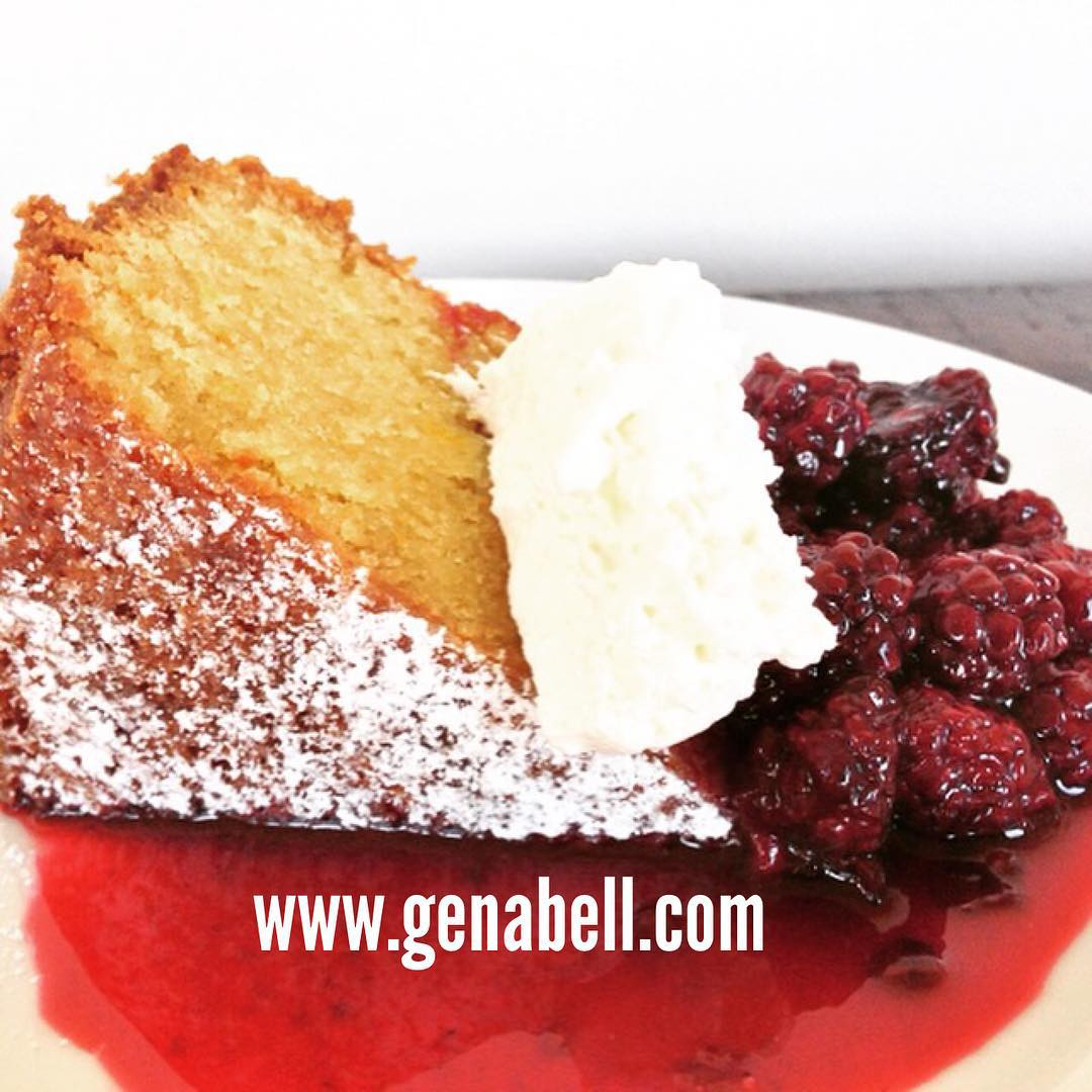 Olive Oil Cake with Blackberry Compote Recipe! Got Cake?? wwwgenabellcomhellip