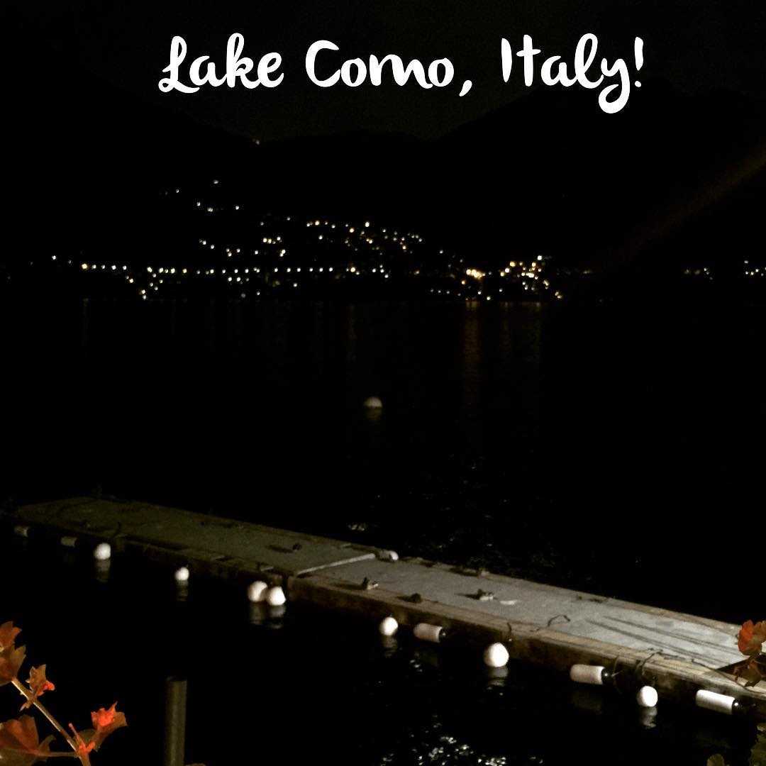 We made it to Como!! View at dinner! Not badhellip