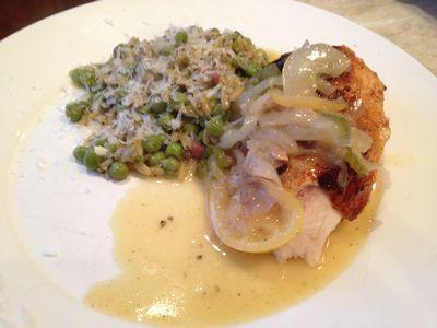 Split Roast Chicken with Lemon Sauce over Pea Orzo 041-thumbnail 300