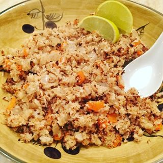 Easy Cauliflower Coconut Fried Rice Recipe! NoCarbs just Flavor! Whole30hellip