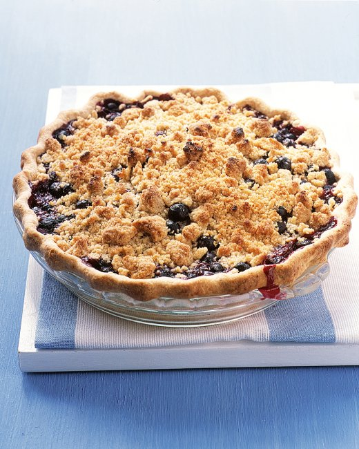 Blackberry & Nectarine Crumb Pie