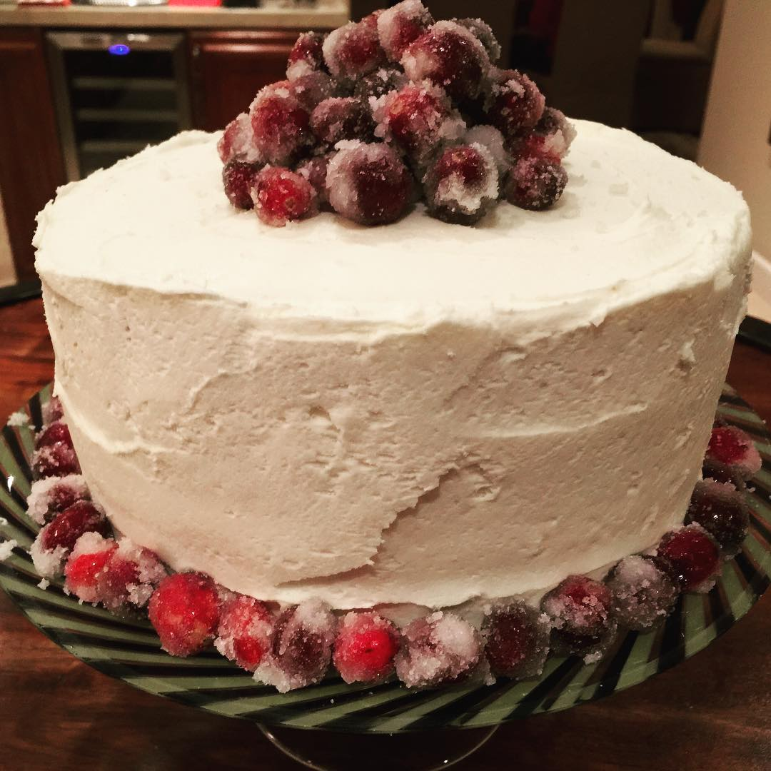 White Chocolate Cranberry Cake! Holidays are Sweet! Christmas desserts Yummyhellip