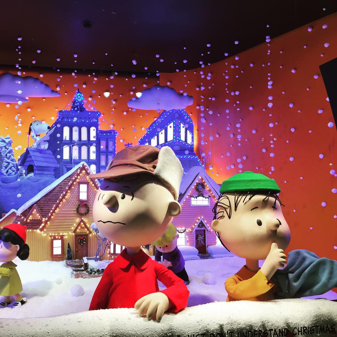 Peanuts Themed Windows at Macys NYC! So cute! NYC Shoppinghellip