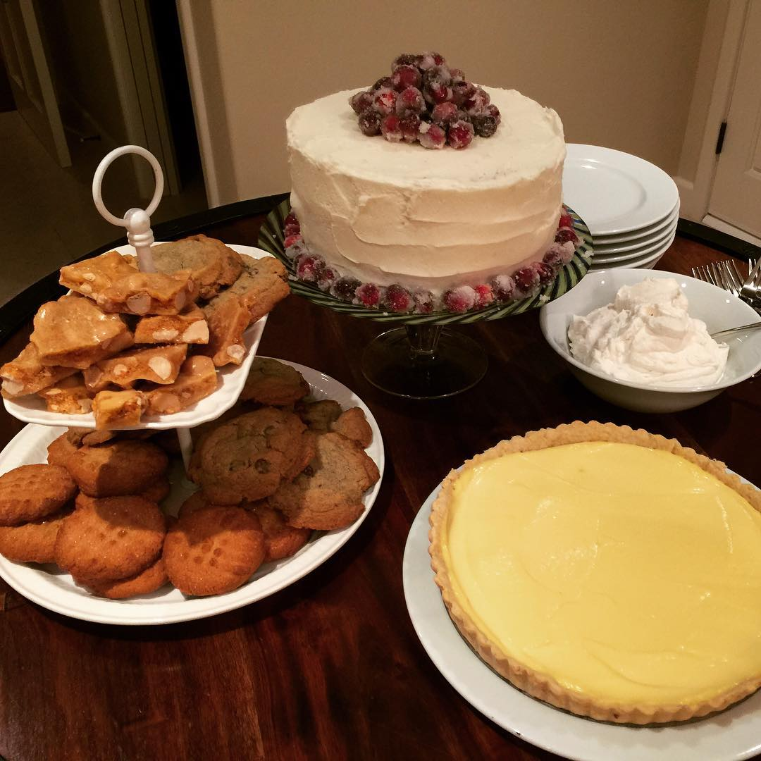 Holiday Desserts! Sweet! Christmas Cranberry Cake Lemontart Cookies Peanutbrittle