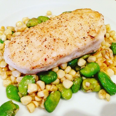 Halibut with Brown Butter Sweet Corn amp Favas! Simply Delicious!hellip