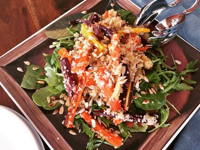 Roasted Rainbow Carrot amp Quinoa Salad  Brighten up Humphellip