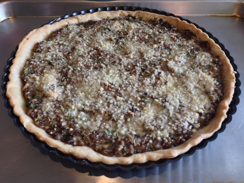 Portobello Mushroom & Roasted Eggplant Tart – Recipe Image 1