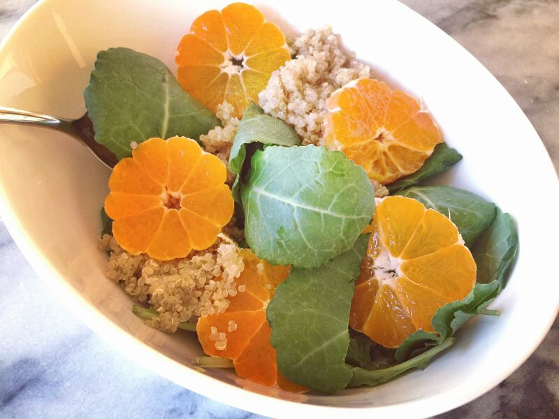 Baby Kale Quinoa amp Tangerine Salad sure hits the spothellip