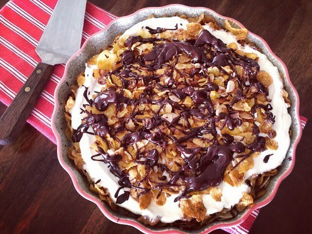 Retro Desserts with a Twist! NoFry Mexican Ice Cream Pie!hellip