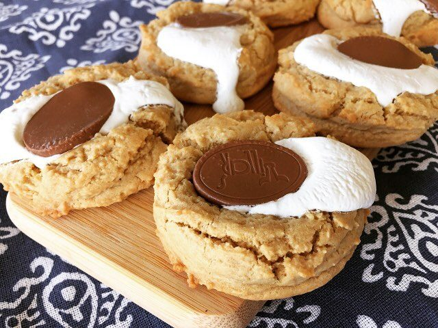 Peanut Butter Marshmallow amp Chocolate Cookies Recipe! Im still tryinghellip
