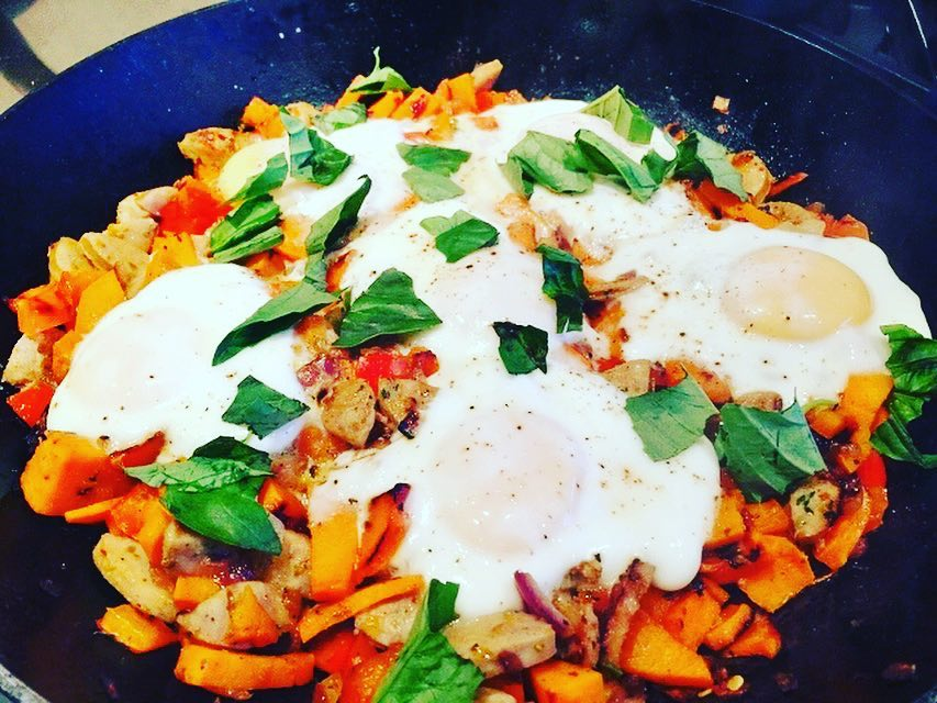 Sweet Potato Hash amp Eggs Recipe! Another great Brunch Ideahellip