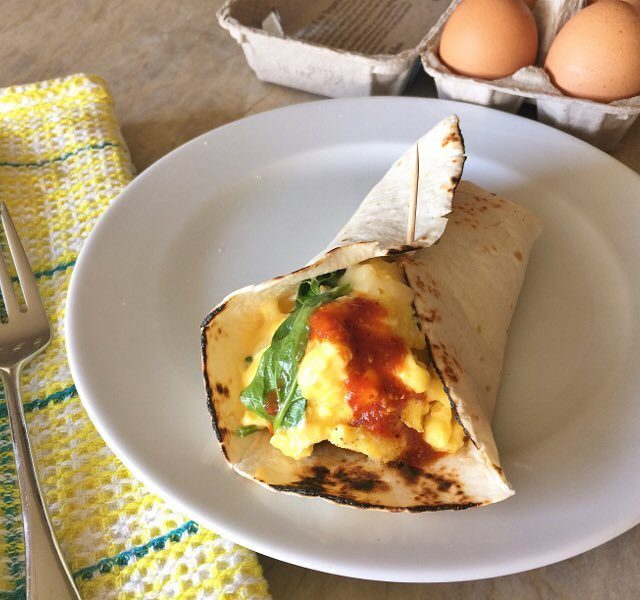 Soft Scrambled Egg amp Spinach Burritos! Meatless Mondays never tastedhellip
