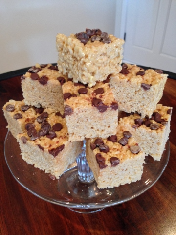 Peanut Butter Chocolate Chip Rice Krispies Treats – Great for Back to School! Image 1