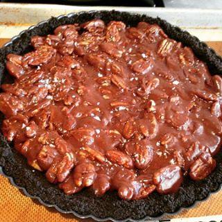 Chocolate Caramel Pecan Tart Recipe! Why make the same pecanhellip