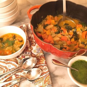 Souper Wednesday!! Roasted Root Vegetable Soup with Arugula Oil!! Recipehellip
