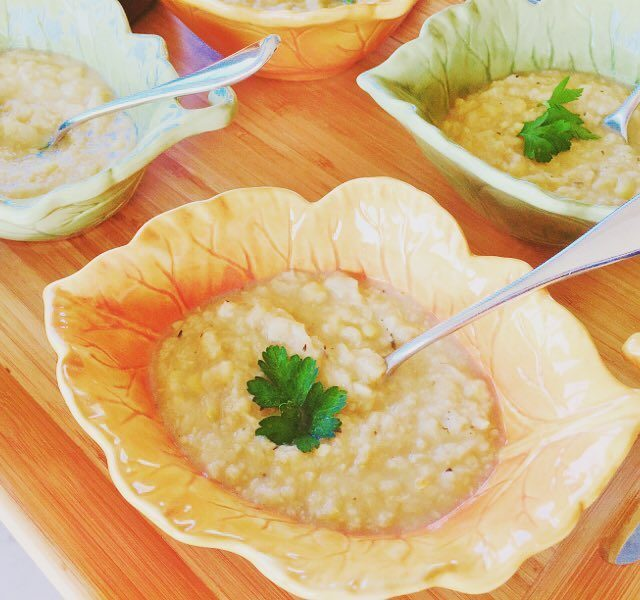 This Instant Pot Corn amp Cauliflower Chowder is literally donehellip