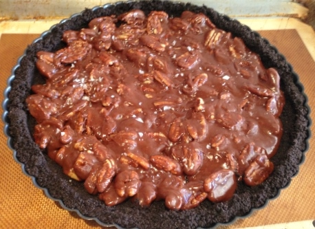 Chocolate-Caramel Pecan Tart – Recipe!