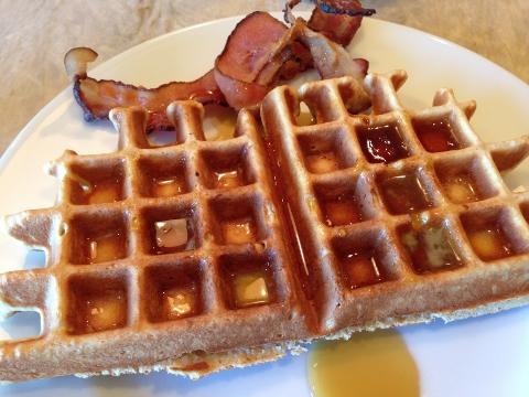 Maple Oatmeal Waffles – Recipe Image 1