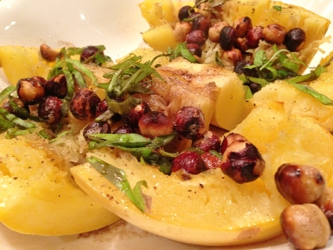 Spaghetti Squash with Brown Butter & Hazelnuts – Recipe!