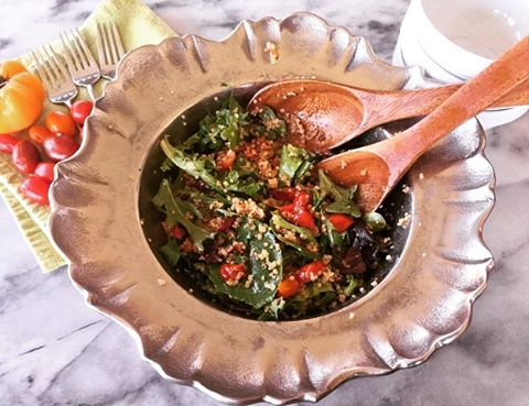 Bacon Lettuce Charred Tomato amp Quinoa Salad Recipe! Classic Flavorshellip