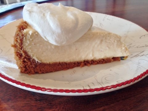 Eggnog Cheesecake with Rum Whipped Cream – Recipe! Image 1