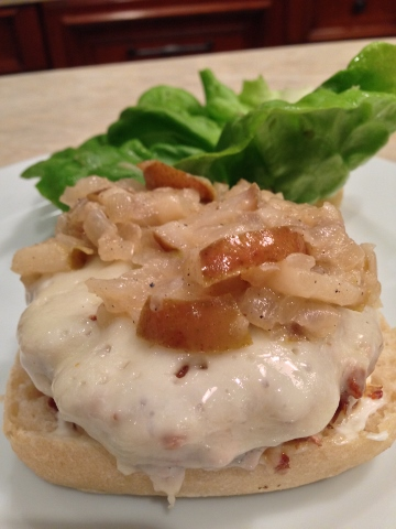 Burger Me!  Turkey Burgers with Spiced Pear Compote – Recipe Image 1