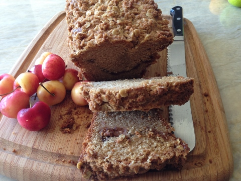 Swirled Fig Jam Tea Cake – Recipe! Whole-Grain! Image 1