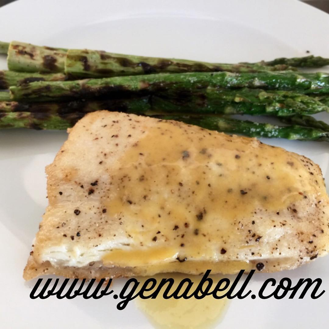 Easy Halibut with Citrus Sauce Recipe! Keeping it light thishellip