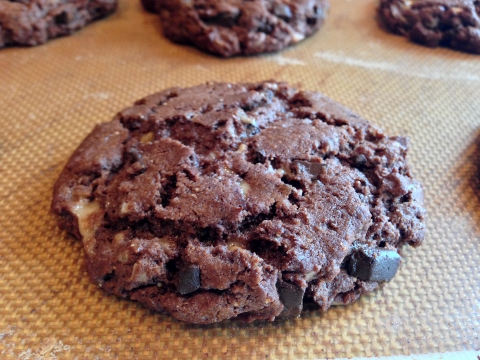 Flourless Chocolate Peanut Butter Toffee Cookies 093 (480x360)