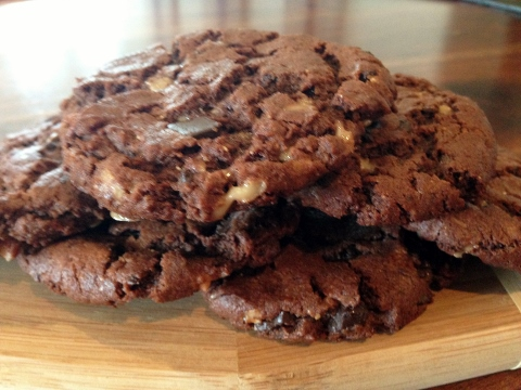 Flourless Chocolate Peanut Butter Toffee Cookies 104 (480x360)