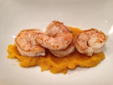 Seared Shrimp & Shishitos with Kabocha Squash Broth 124 (480x360)