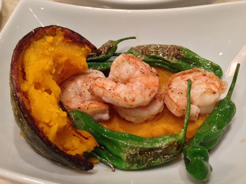 Seared Shrimp & Shishitos with Kabocha Squash Broth 129 (480x360)