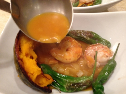 Seared Shrimp & Shishitos with Kabocha Squash Broth 139 (480x360)