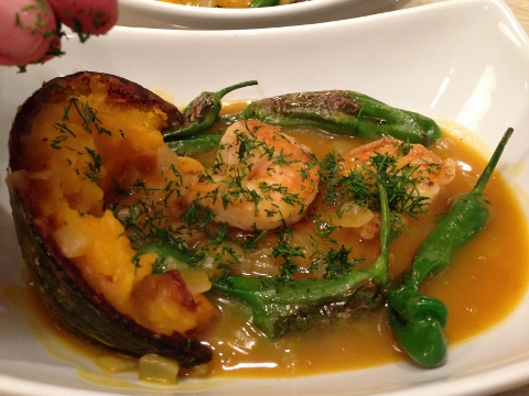 Seared Shrimp & Shishitos with Kabocha Squash Broth 150 (480x360)