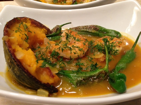 Seared Shrimp & Shishitos in Kabocha Broth – Recipe! Image 1