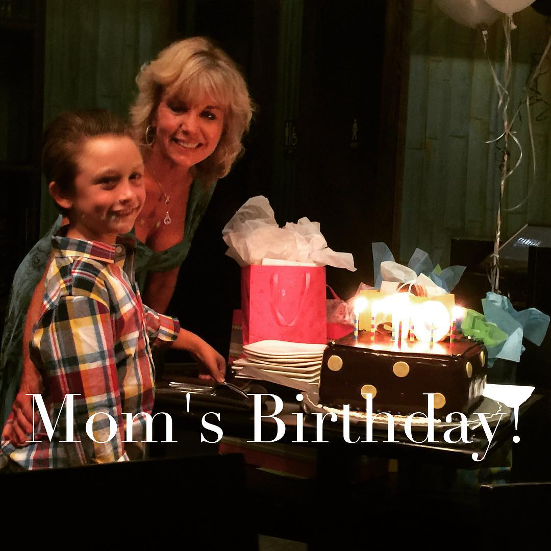 Gav and Mom getting ready to blow out the candles!!hellip