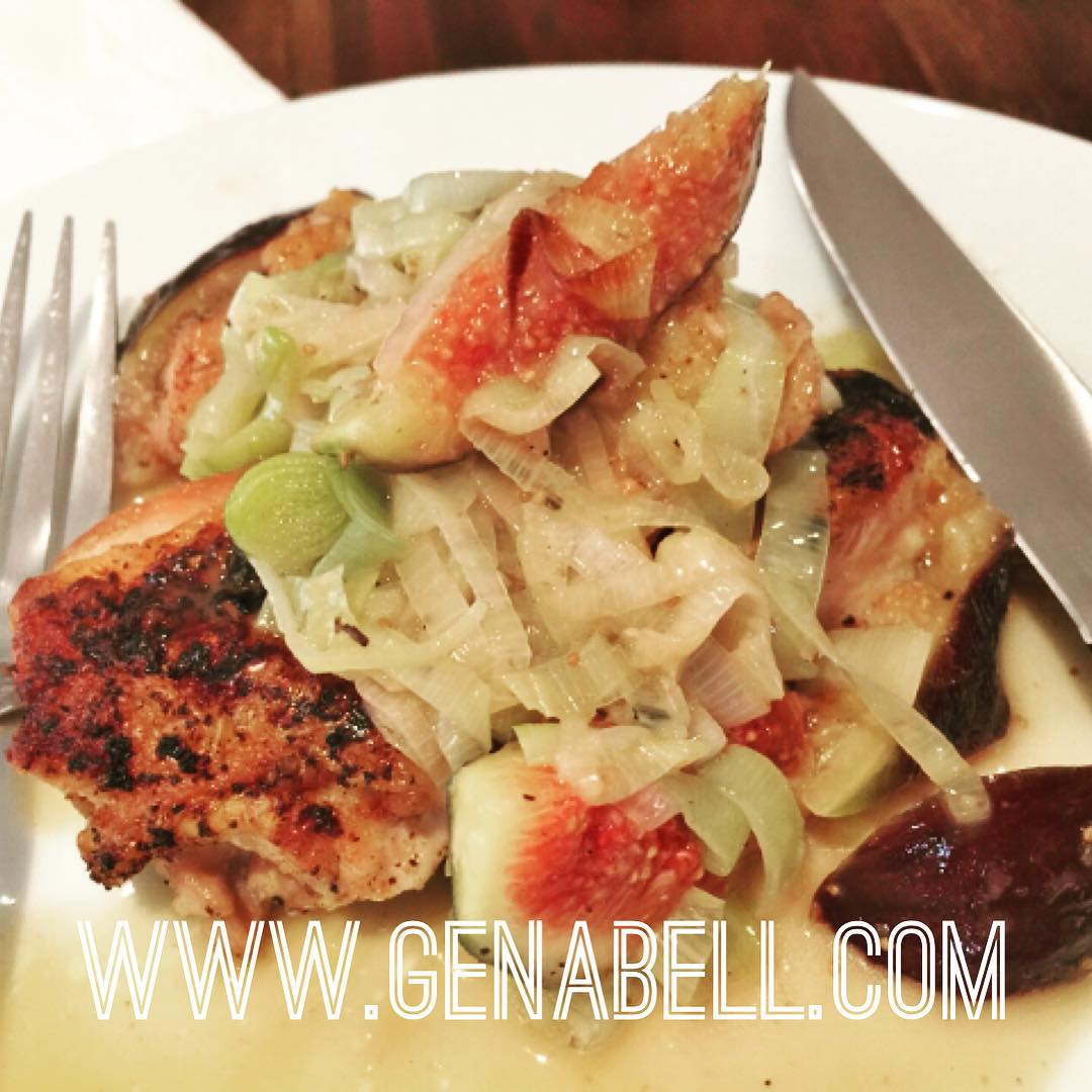 More Figtastic Recipes!! Seared Chicken with Buttery Leek amp Fighellip