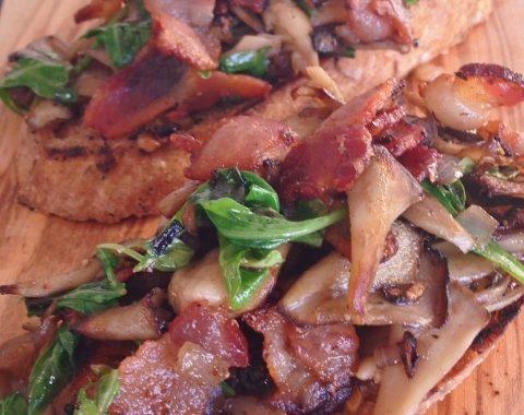Bacon & Maitake Mushroom Toasts – Recipe!
