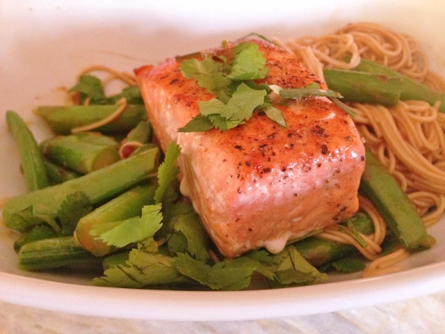 Thai Peanut Salmon & Noodles – Recipe! Image 2
