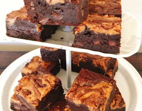 Peanut Butter Swirl Brownies – Recipe!